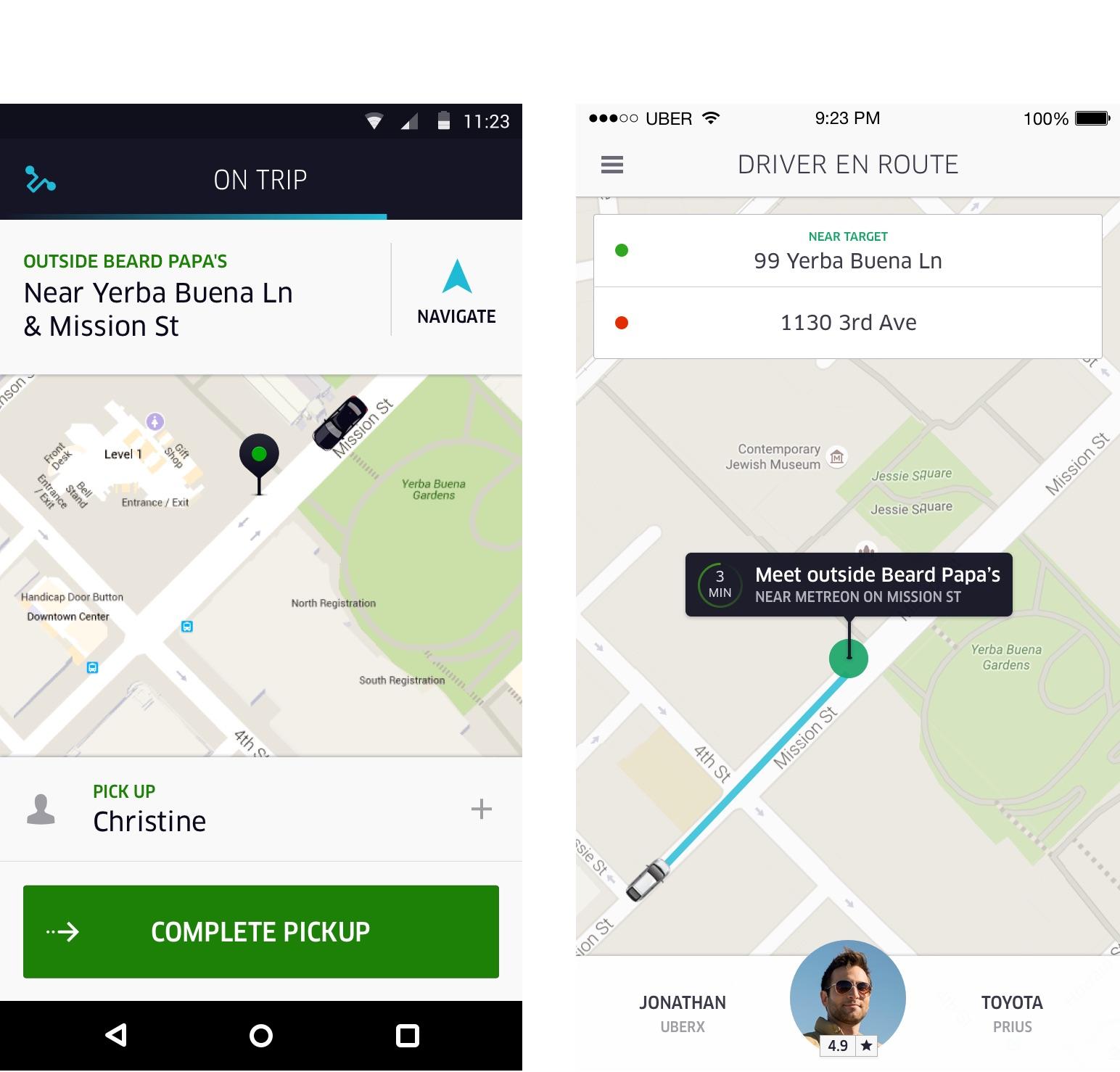 Uber - User Experience Design Portfolio of Simon Pan